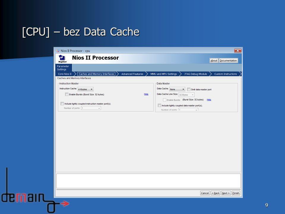 [CPU] – bez Data Cache